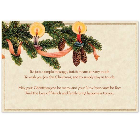 Old Fashioned Christmas Post Card, Set of 20 - View 2