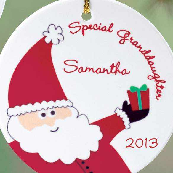Personalized Special Granddaughter Porcelain Ornament - View 2