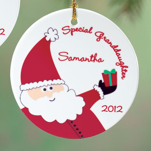 Personalized Special Granddaughter Porcelain Ornament - View 3