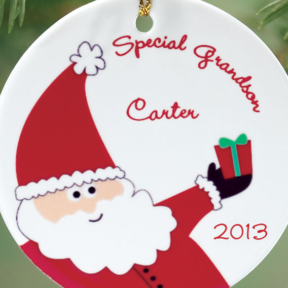 Personalized Special Grandson Ornament - View 2