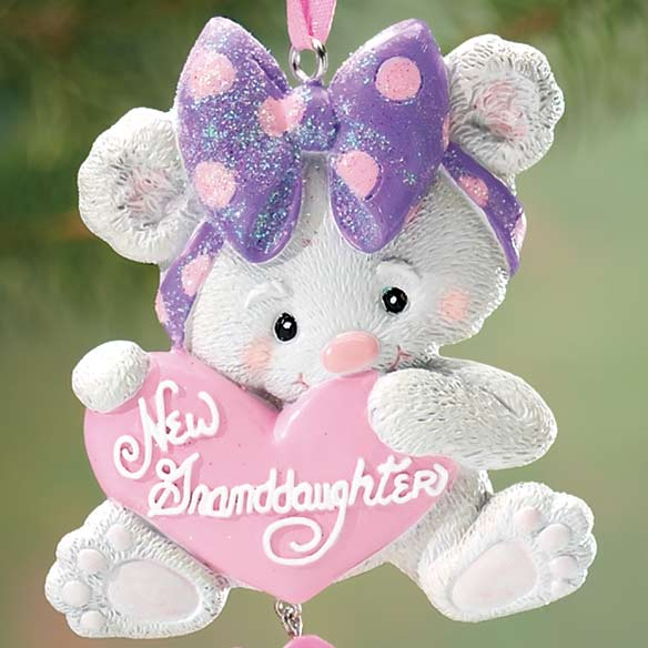 Personalized New Granddaughter Ornament - View 2