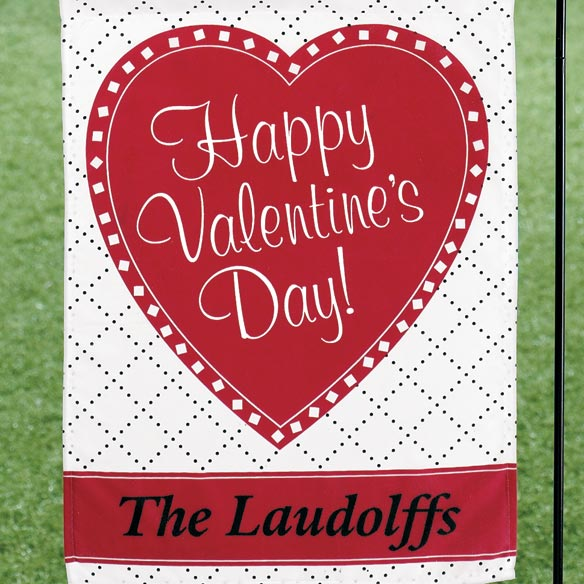 Personalized Valentine Garden Flag - View 2