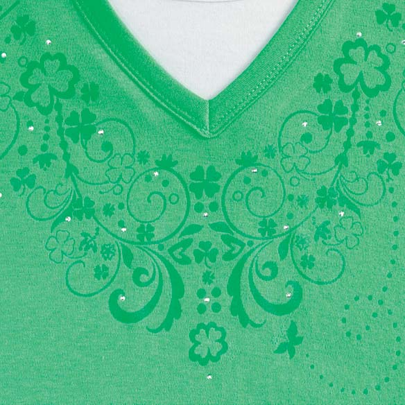 Shamrock Scrolls 3/4 Sleeve Shirt - View 3