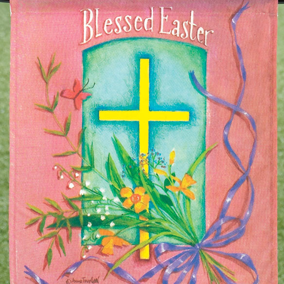 Personalized Blessed Easter Garden Flag - View 2