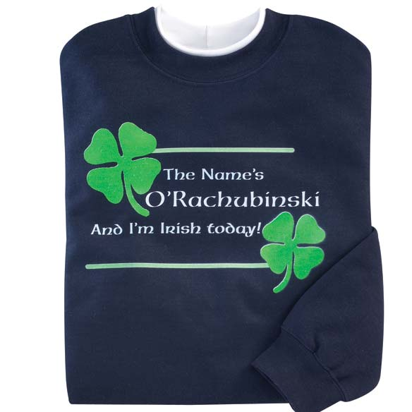 Personalized I'm Irish Today Sweatshirt 2XL - View 2