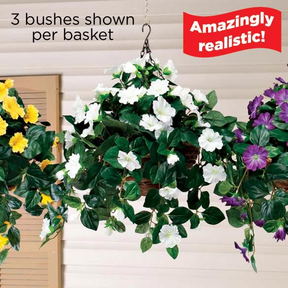 Artificial Petunia Hanging Bush - View 2
