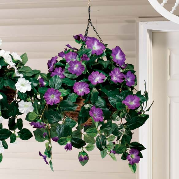 Artificial Petunia Hanging Bush - View 3
