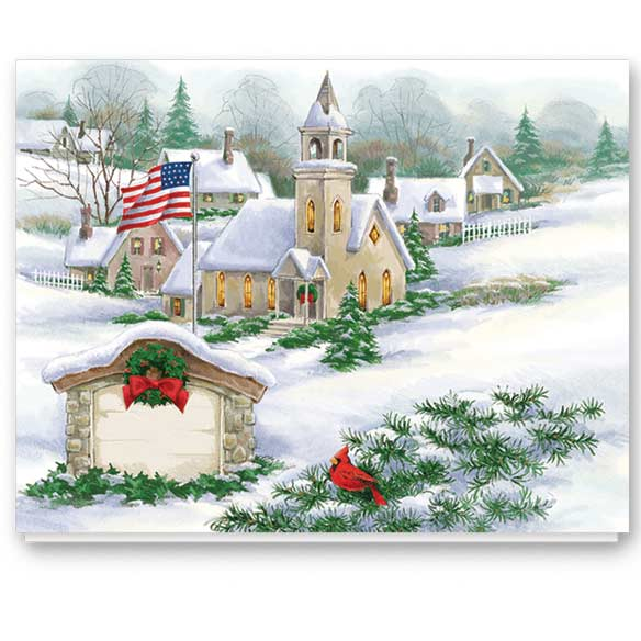 God Bless America Non-Personalized Card Set of 20 - View 2