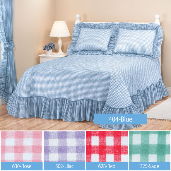 Gingham Bedspread - View 2