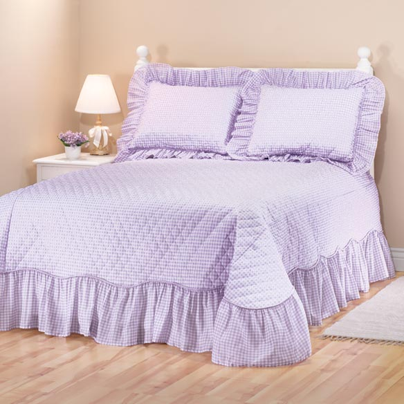 Gingham Bedspread - View 3