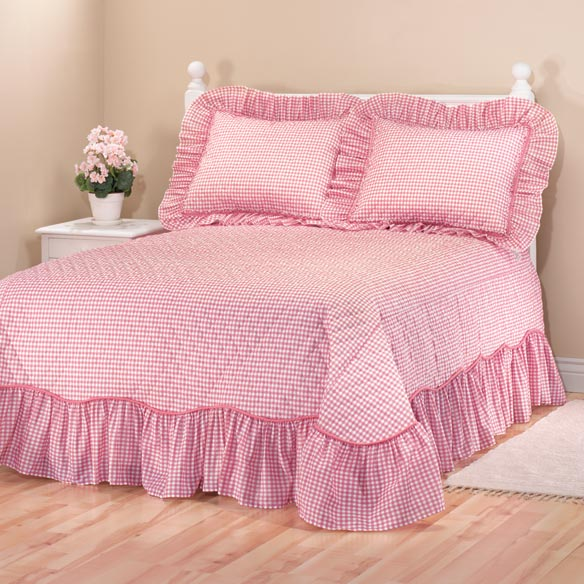 Gingham Bedspread - View 4