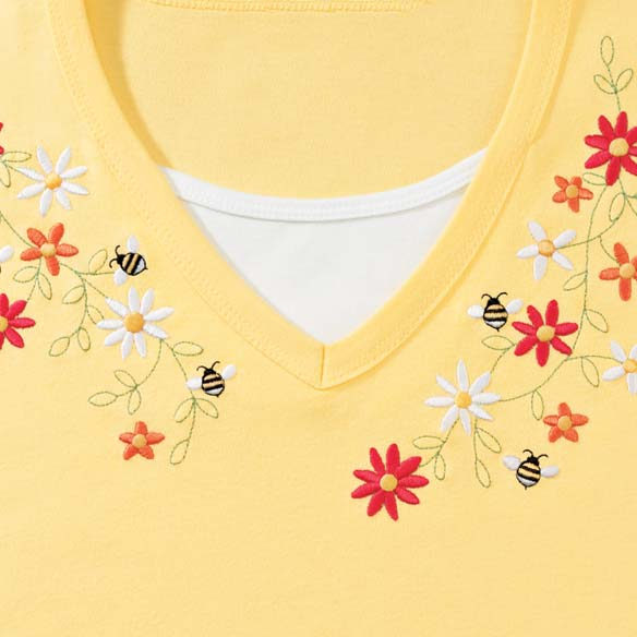Bee Bright 3/4 Sleeve Shirt