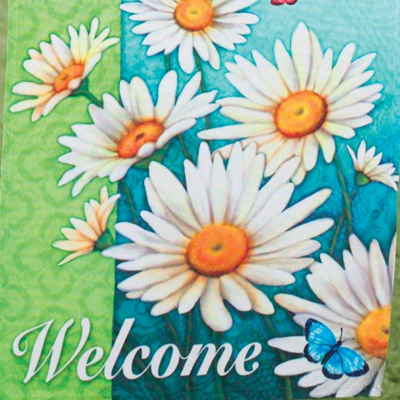 Daisies Garden Flag - View 2
