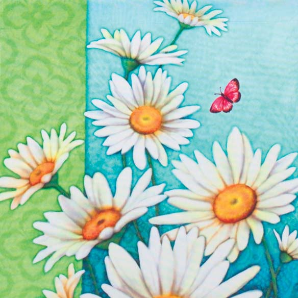 Daisies Garden Flag - View 3