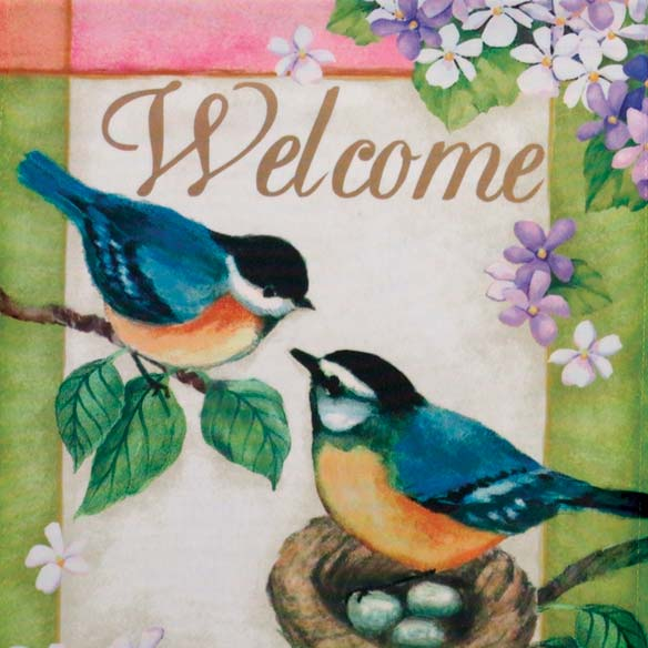 Bluebird Garden Flag - View 2