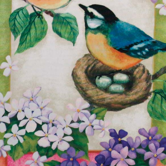 Bluebird Garden Flag - View 3