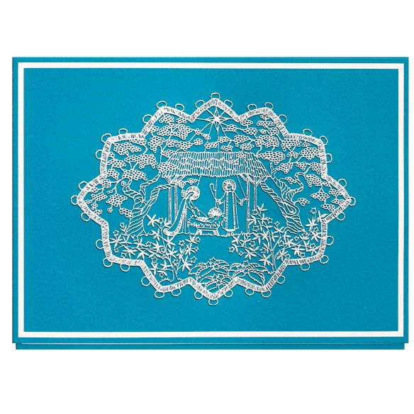 Lace Nativity Non-Personalized Card Set of 20 - View 2
