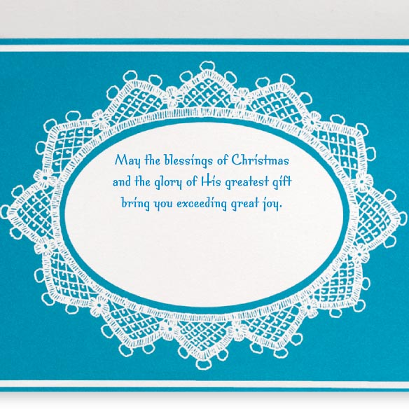 Lace Nativity Non-Personalized Card Set of 20 - View 3