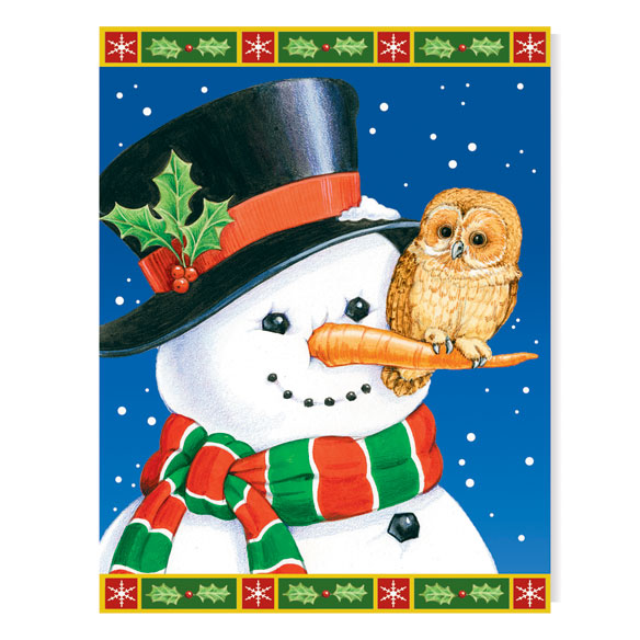 Snowman And Owls Card Set - View 2