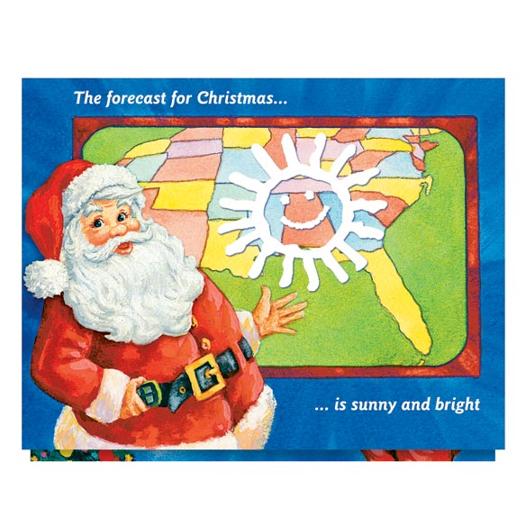 Santa's Weather Map Card Set of 20 - View 2