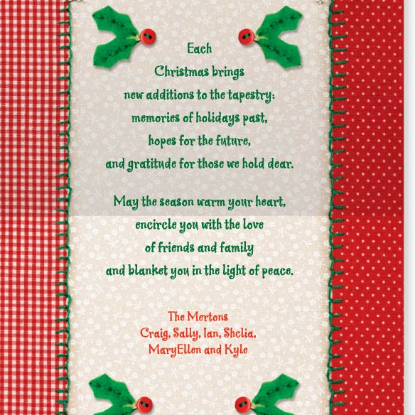Christmas Tapestry Card Set of 20