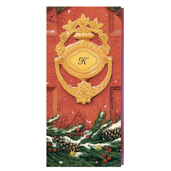 Door Knocker Monogrammed Card Set - View 2