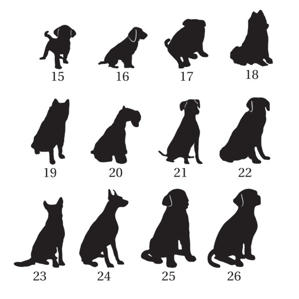 Pet Silhouette Greeting Card Set of 20 - View 4