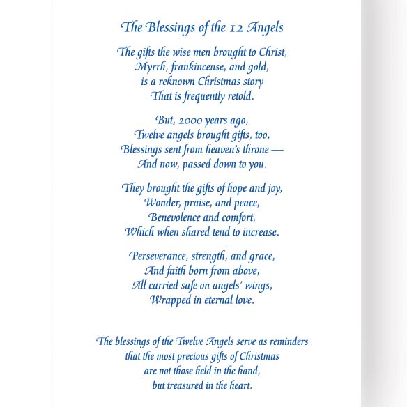 Blessing of the 12 Angels Christmas Card Set of 20 - View 3