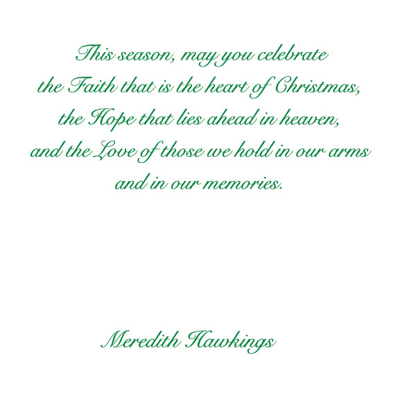 Memorial Greeting Christmas Card Set of 20 - View 4