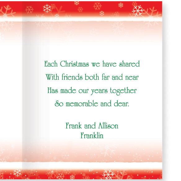 Years Together Teddy Bear Couple Christmas Card Set of 20 - View 4