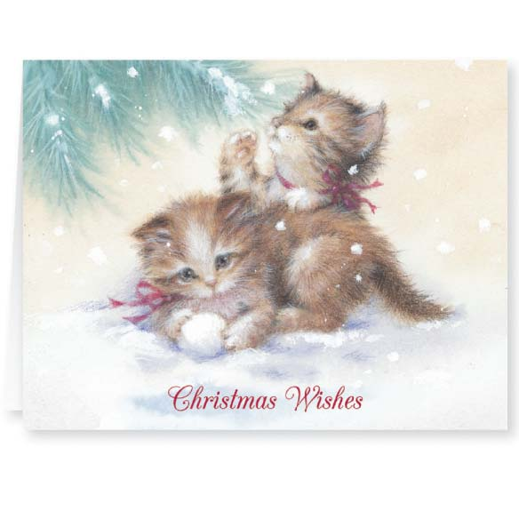 Kitten Christmas Card Set of 20 - View 2