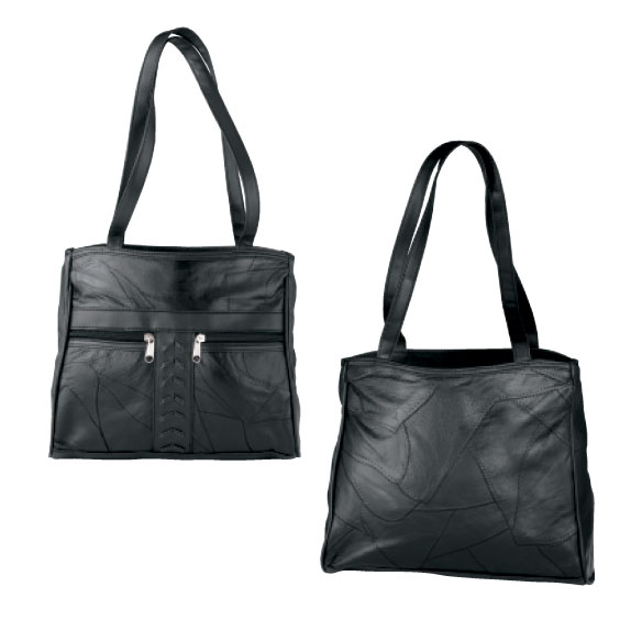 Patch Leather Handbag - View 2
