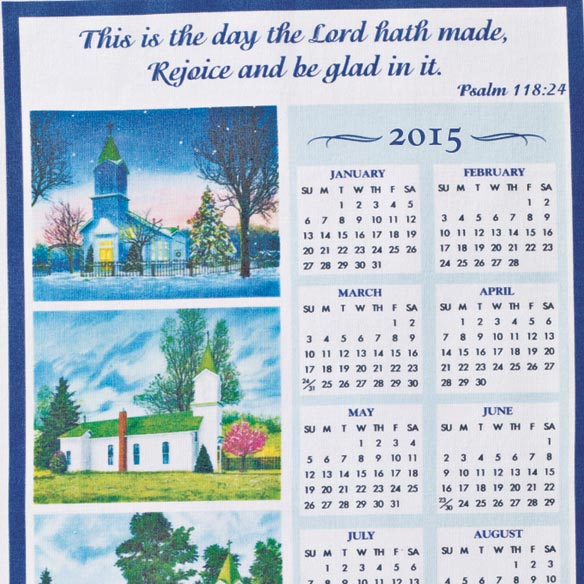 Personalized Church Four Seasons Calendar Towel - View 2