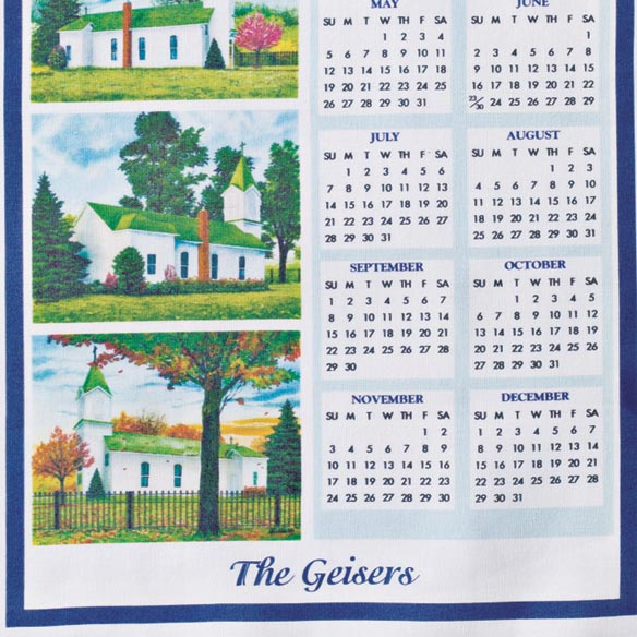 Personalized Church Four Seasons Calendar Towel - View 3