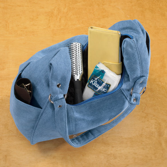 Denim Hobo Handbag - View 2