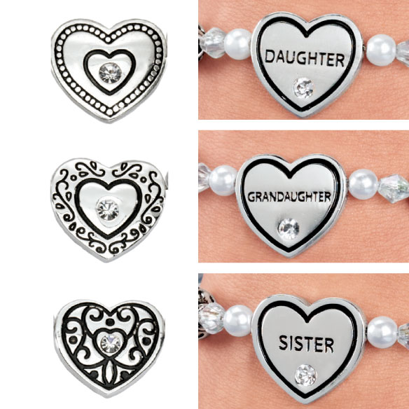 Family Heart Bracelets - View 5