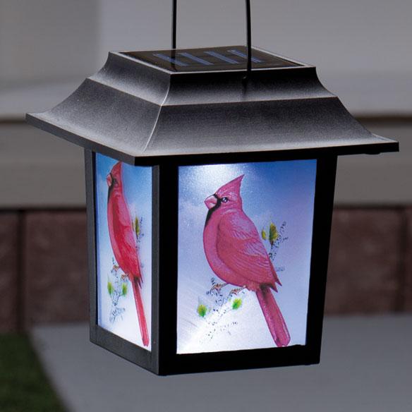 Cardinal Solar Lantern Stake - View 2