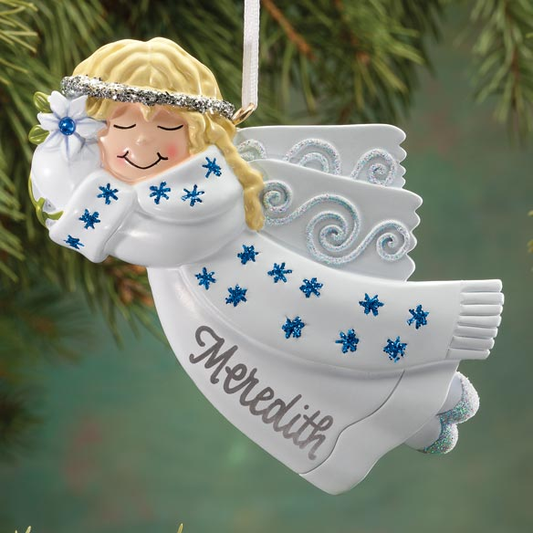 Personalized Birthstone Angel Ornament - View 4