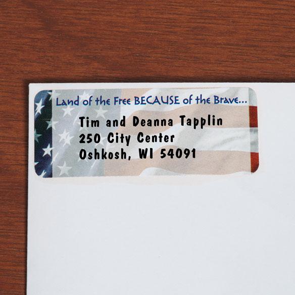 American Flag Return Address Labels - View 2