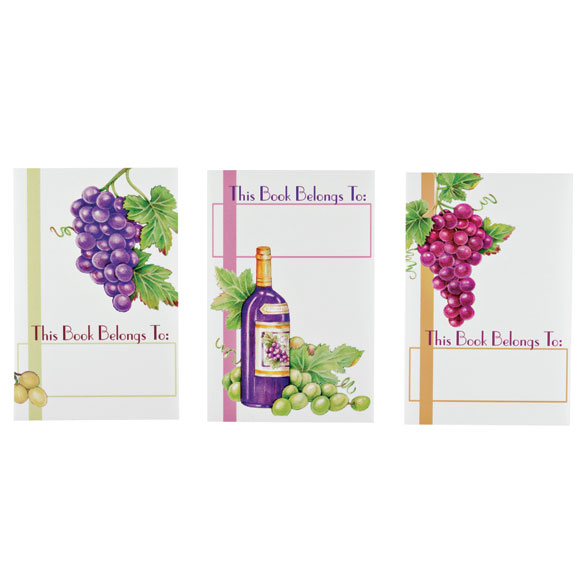 Wine Bookmarks & Bookplates Set - View 2