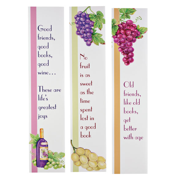 Wine Bookmarks & Bookplates Set - View 3