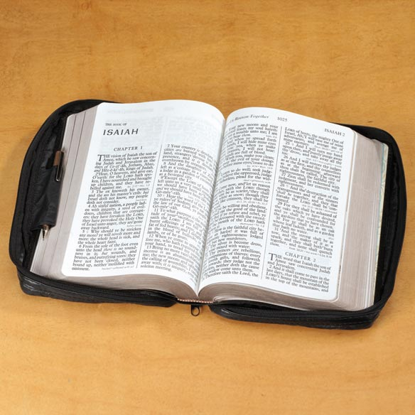 Personalized Leather Bible Case - View 3