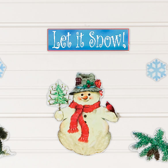 Let it Snow Garage Door Magnets - Set Of 11 - View 2