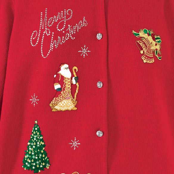 Merry Christmas Sweater 2X-3X - View 2