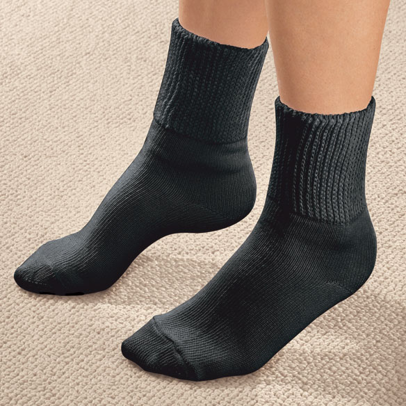 Extra-Wide Diabetic Ankle Socks 2 Pair - View 2