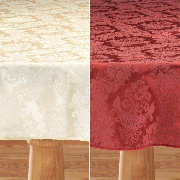 Damask Table Cover - View 3