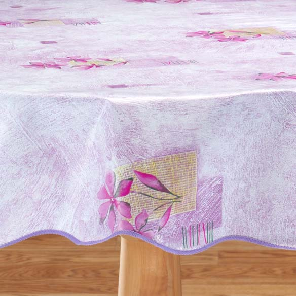 Purple Wave Edge Table Cover - View 2