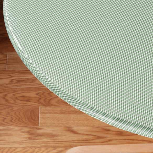 Pinstripe Elasticized Table Cover - View 3