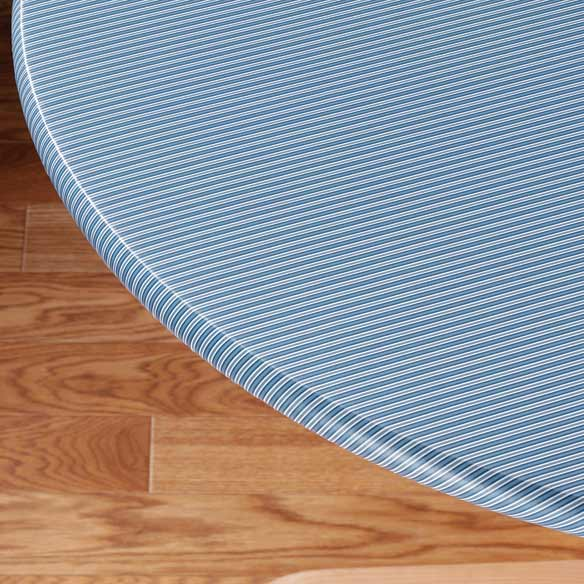 Pinstripe Elasticized Table Cover - View 4