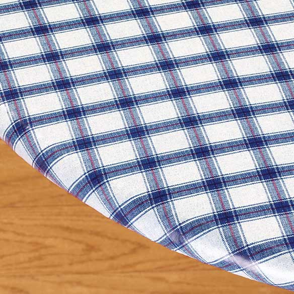 Plaid Elasticized Vinyl Table Cover - View 5